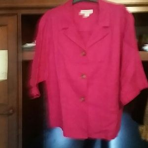 Tops - Coldwater creek pink jacket or shirt over tank